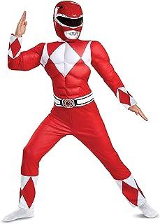 پوشیدن لباس کودک رنجر کلاسیک عضلانی ، قرمز ، X-Large/(14-16)