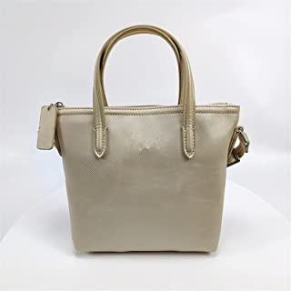 lkpoijuh Damen Tasche Leder Umhängetasche Messenger Bag Damen Kleine Tasche Nette Crossbody Bag (Color : Gold)