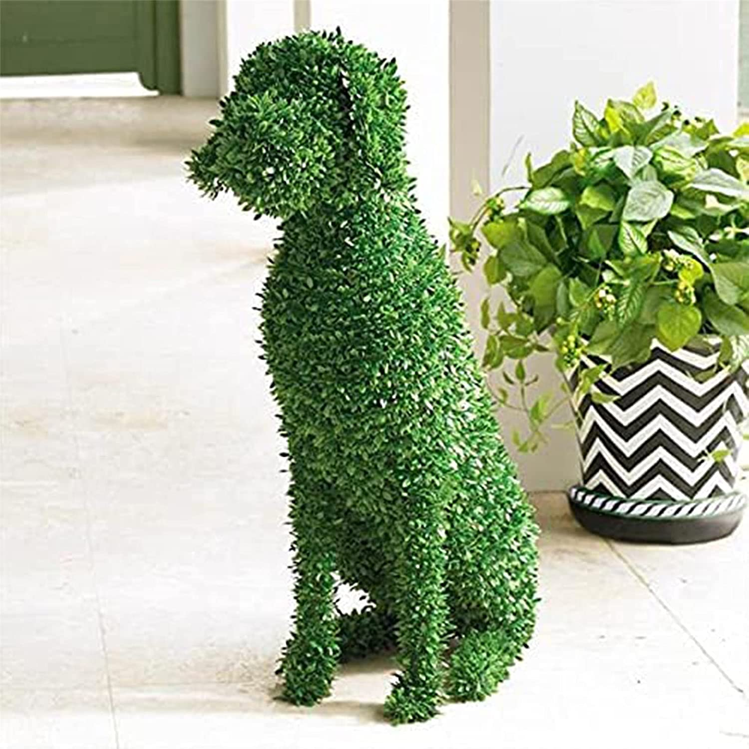 FunurHoome Outlet sale feature Dog Statue Limited price Decorative Topiary Peeing Flocking