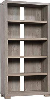 """Sauder Manhattan Gate Tall Bookcase, L: 36.02"""" x W: 14.45"""" x H: 72.05"""", Mystic Oak Finish"""