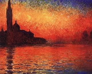 San Giorgio Maggiore at Twilight (Dusk in Venice), c.1908 by Claude Monet Art Print, 13 x 10 inches