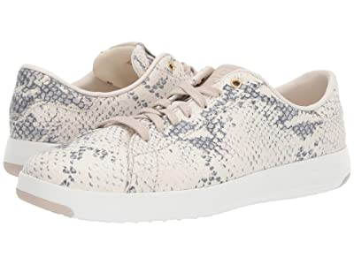 Cole Haan GrandPro Tennis Sneaker (Ivory Grey Roccia/Pumice Stone Leather/Optic White) Women