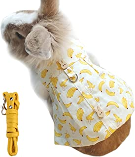 Alfie Pet - Indie Harness and Leash Set for Small Animals Like Guinea Pigs and Rabbits - Color: Yellow, Size: Medium