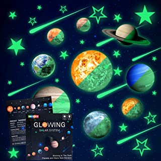 48pcs Glow in The Dark Stars and Planets Wall Stickers...