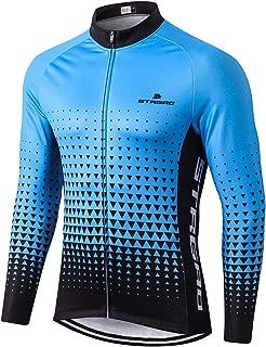 MR Strgao Men's Cycling Winter Thermal Jacket Windproof Long Sleeves Bike Jersey Bicycle Coat