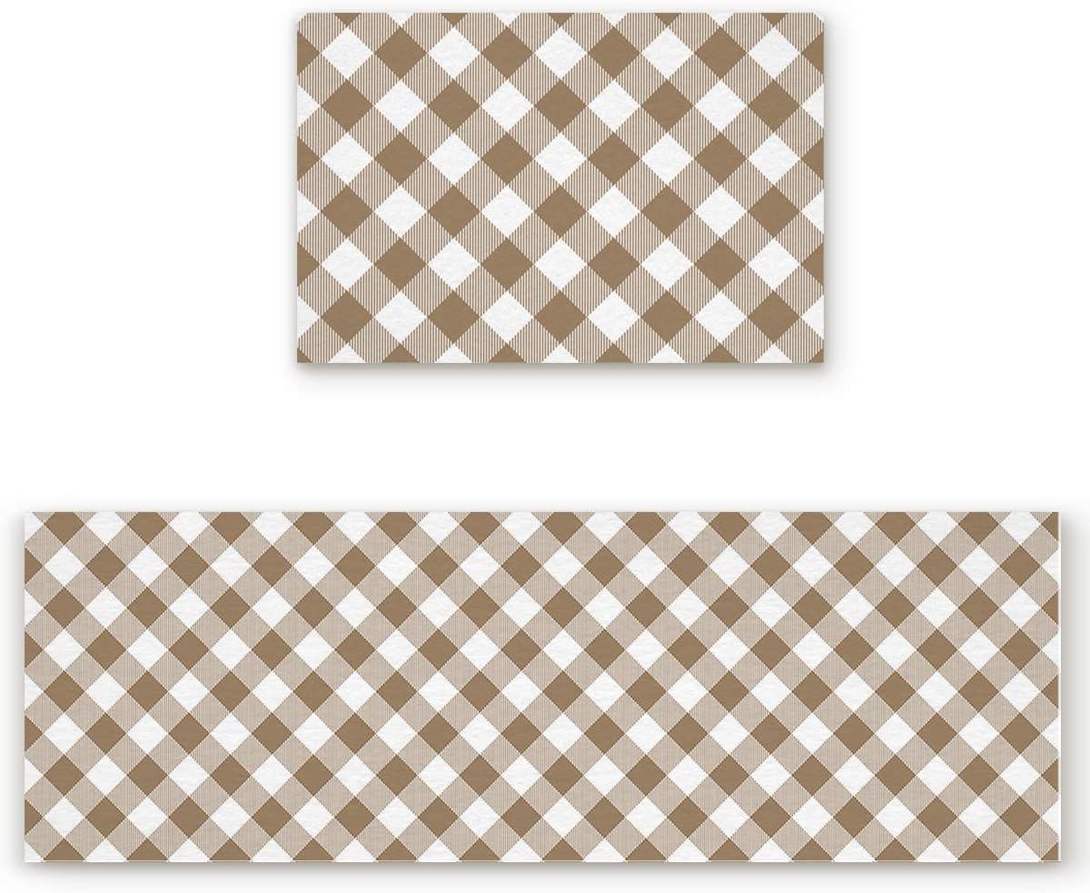 Rocking At the price Giraffee Kitchen Rug and Mats Piece Li Pastoral Style Max 56% OFF 2