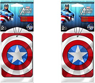 Captain America Paper Air Freshener x 2 Packs (4 pcs Total)