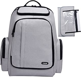 KALIDI Travel Gaming Laptop Backpack 18.4 Inch with USB Charge Port, Waterproof Computer Bag Notebook Rucksack for Dell, Asus, Msi,Hp Gaming Laptops Gray 190078