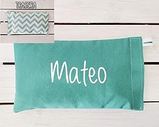 Saco térmico de semillas para bebé personalizado. Apto para lavadora. Es ideal para aliviar los cólicos, calentar la cuna ...