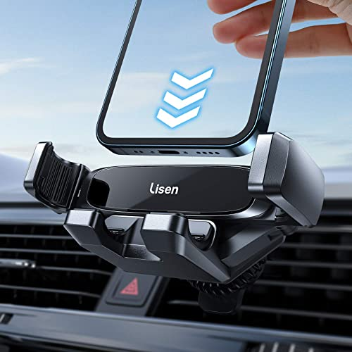 lowest Phone Holder for Car Vent, [ Auto-Lock ] LISEN popular Gravity Cell Phone popular Car Mount Air Vents, [ One-Handed Operation ] Secure and Sturdy Compatibility with 4-6.7 inches iPhone, Smartphone online