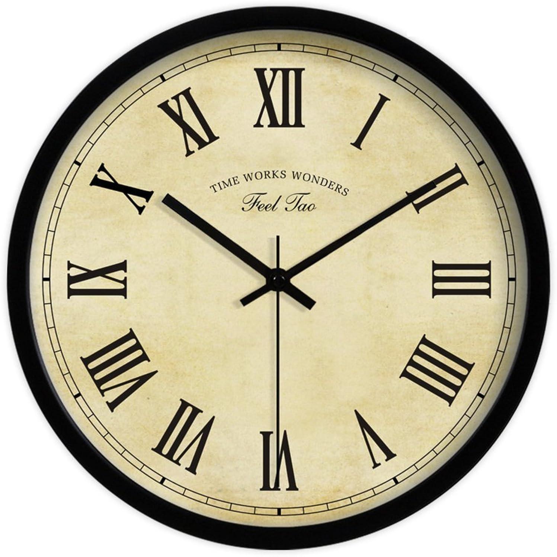 excelentes precios GAYY GAYY GAYY Hogar Decoración   Silencio de la sala de estar retro Continental Reloj de parojo   Arte Dormitorio Relojes,C,12 pulgadas  Mejor precio