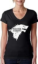 Allntrends Women's V Shirt Winter is Coming