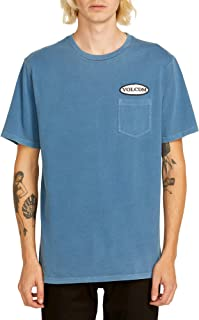 Volcom Men's Oval Patch Short Sleeve Pocket Tee Indigo