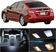 SCITOO 11Pcs White Interior LED Light Package Kit Replacement Bulbs Fits for Nissan Altima 2015-2017