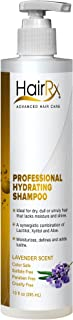 HairRx Professional Hydrating Shampoo with Pump, Light Lather, Lavender Scent, 10 Ounce