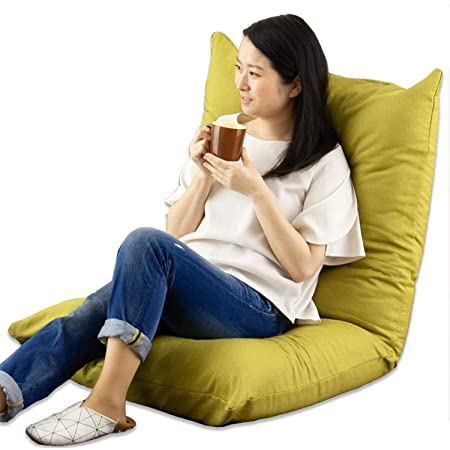 ドウシシャ 座椅子 ソファー 3Dクッション 大きい あぐら座椅子 おしゃれ 肉厚クッション グリーン AKDZ-GN