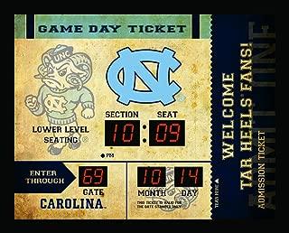 Team Sports America NCAA Bluetooth Scoreboard Wall Clock, North Carolina Tarheels