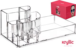 Lipstick Makeup Cosmetic Storage Organizer - Clear Multi Slot Organizers for Brush Palette Nail Polish Perfume Lipsticks Lipgloss pens & More! Acrylic Vanity case Holder for Any Size Cosmetics