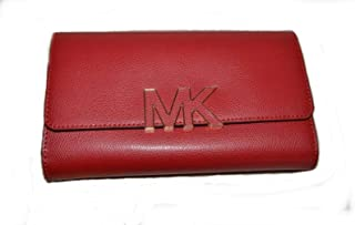 Michael kors 38S7XREF7 Florence Large billfold clutch Leather wallet - Red