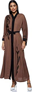Nukhbaa Women's Abaya, Brown