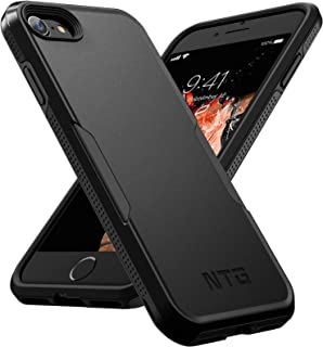 NTG [1st Generation] Designed for iPhone SE 2020 Case/iPhone 8 Case/iPhone 7 case, Heavy-Duty Tough Rugged Lightweight Slim Shockproof Protective Case for iPhone 4.7 Inch, Black