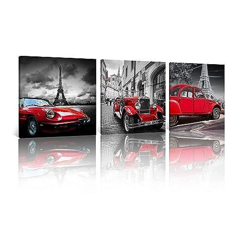 Vintage Car Wall Art: Amazon.com