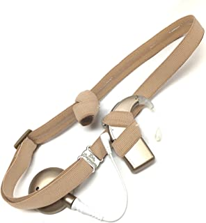 Ear Suspenders Cochlear Implant Headband (Beige, Adult)