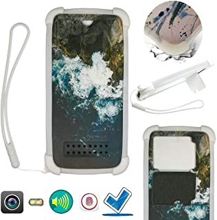 Case For Tecno Pop 3 Plus Case Silicone border + PC hard backplane Stand Cover XYCL
