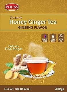 Pocas Honey Ginger Tea, Ginseng, 12.7 Ounce, 20 Bags (Pack of 2)