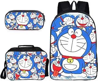 LLYDIANMochila Junior para Niños 3D Doraemon ultraligera mochila, los estudiantes de la escuela primaria en clases grandes, medianos y pequeños, ligeros bolsas, mochilas escolares, mochilas de gran ca