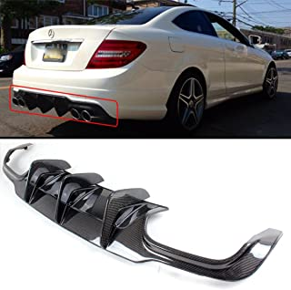 Fits for 2012-2014 Mercedes Benz W204 C63 AMG Big Shark Fin Carbon Fiber Rear Bumper Diffuser