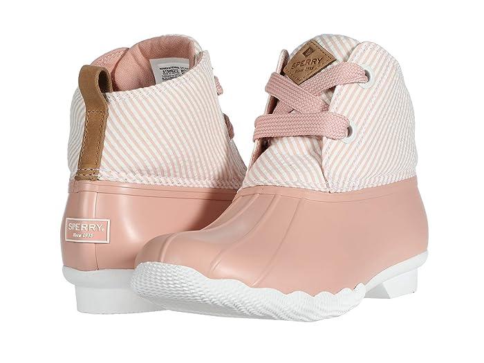 Sperry  Saltwater 2-Eye Seersucker (Coral/White) Womens Shoes