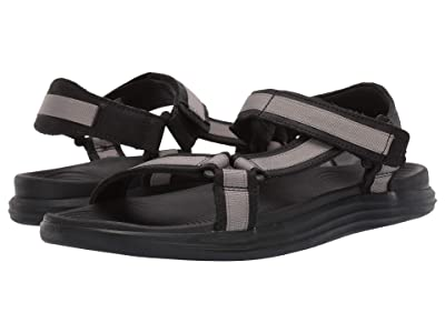 Sperry Regatta 2-Strap Sandal (Black/Grey) Men