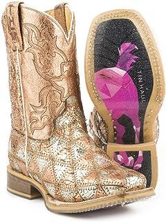 Kid's Tin Haul Mish and Mash Geometric Pony Sole Boots Handcrafted