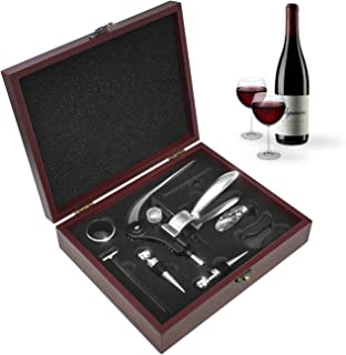 Sorbus Wine Opener Gift Set Corkscrew Kit— Deluxe 9 Pieces Wine Tool Set Includes:Corkscrew Opener, Wine Stoppers, Corkscrews, Thermometer, Foil Cutter, Pourer /Stopper, Drip Ring-For Any Occasion!