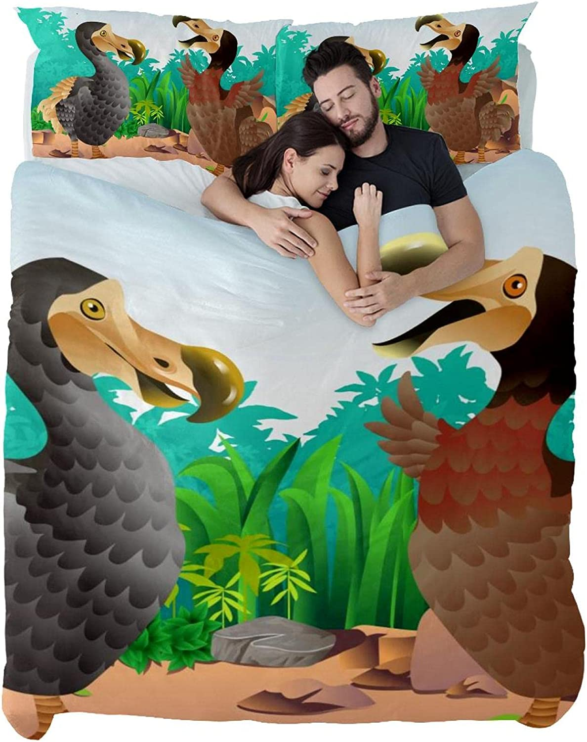 Dragon Sword Bedding Sets Our shop OFFers the best service Male and Dodo 3PC trend rank Birds Printed Female