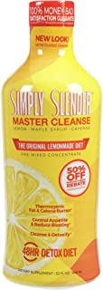 Simply Slender Master Cleanse - Lemonade 2-4 day Detox Diet with Maple Syrup, Cayenne and Lemon - Premixed Concentrate The...