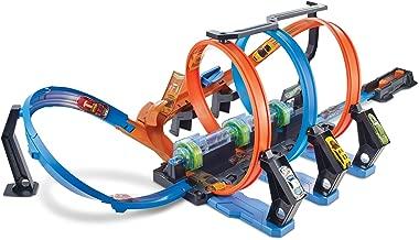 Hot Wheels Looping Infernal, coffret de jeu pour petites voitures avec circuit et pistes, Jouet pour enfant, FTB65