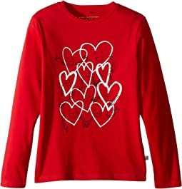 Bella Hearts Long Sleeve Tee (Toddler/Little Kids/Big Kids)