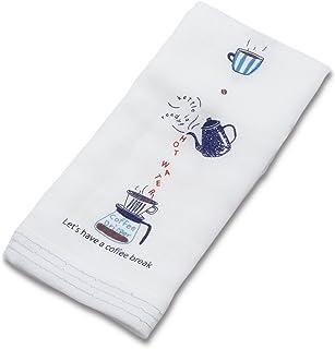 今治産タオル フェイスタオル はごろも ガーゼ カフェタイム ブルー 32×95cm 25400