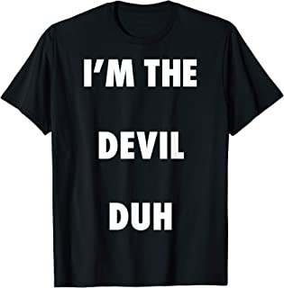 Easy Halloween Devil Costume Shirt for Men Women Kids T-Shirt