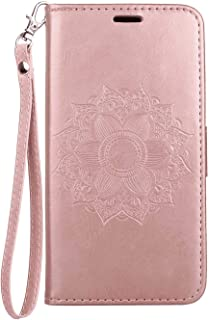 Stylish Cover Compatible with Samsung Galaxy S10 plus, pink Leather Flip Case Wallet for Samsung Galaxy S10 plus