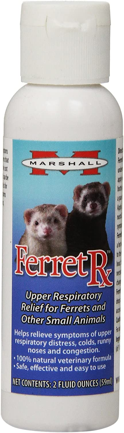 Marshall Pet Products Natural Veterinary Formula Ferret RX Homeopathic Upper Respiratory Relief Supplement, for Ferrets and Small Animals, 2 oz