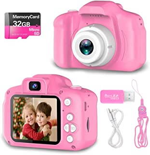(Advanced-pink) - Hachi's Choice Gift Kids Camera Toys for 3-9 Year Old Girls, Compact Cameras for Children,Best Birthday ...