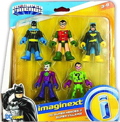 Imaginext Fisher-Price DC Heroes & Super Villains Batman Robin Batgirl Joker Riddler
