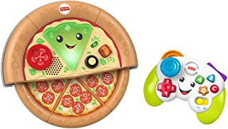 Fisher Price Laugh and Learn Game and Pizza Party Gift Set of 2 Toys with Lights Music and Learning Content for Baby and Toddlers Ages 6 36 Months [Amazon Exclusive]