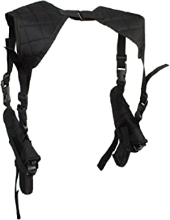 Depring Tactical Double Draw Shoulder Holster Concealed Every Day Carry Dual Pistol Holster Fully Adjustable Under Arm Horizontal Handgun Carrier fits Most Handguns