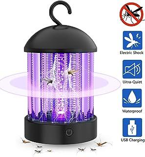 Mosquito Killer Lámpara USB, No Tóxico Silencioso Lámpara Repelente de Insectos Trampa de Control de plagas Eléctrica a prueba de agua, Bug Zapper Linterna portátil para Interiores y Exteriores