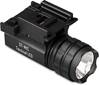 DefendTek Gun Flashlight Compact Tactical LED Rail Mounted with Quick Release 300 Lumens DT-M1C Model Fits Glock Taurus Ruger Springfield H&K S&W