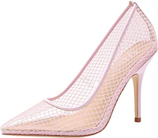 vivianly Womens Fashion Transparent Pointed Toe Pumps Stilettos Heels Dress Shoes